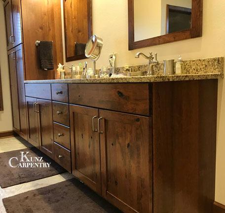 Cherry Bathroom Vanities Kunz Carpentry