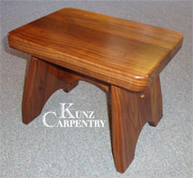 Brilliant Wooden Step Stools Benches Kunz Carpentry Machost Co Dining Chair Design Ideas Machostcouk