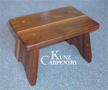 K4 Solid Walnut Wood Step Stool & Wooden Step Stools u0026 Benches - Kunz Carpentry islam-shia.org