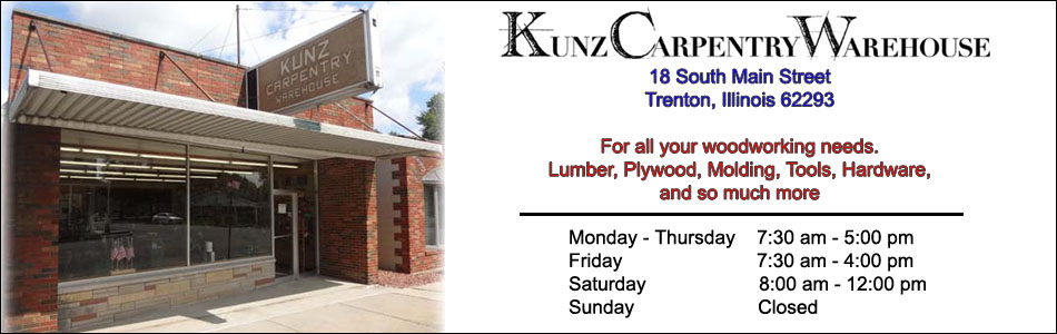 Kunz Carpentry Warehouse - Location & Hours